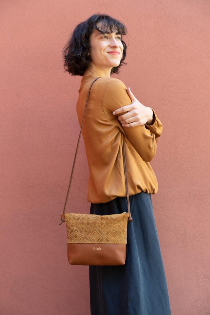 Boho Handtasche von frisch Beutel in braun