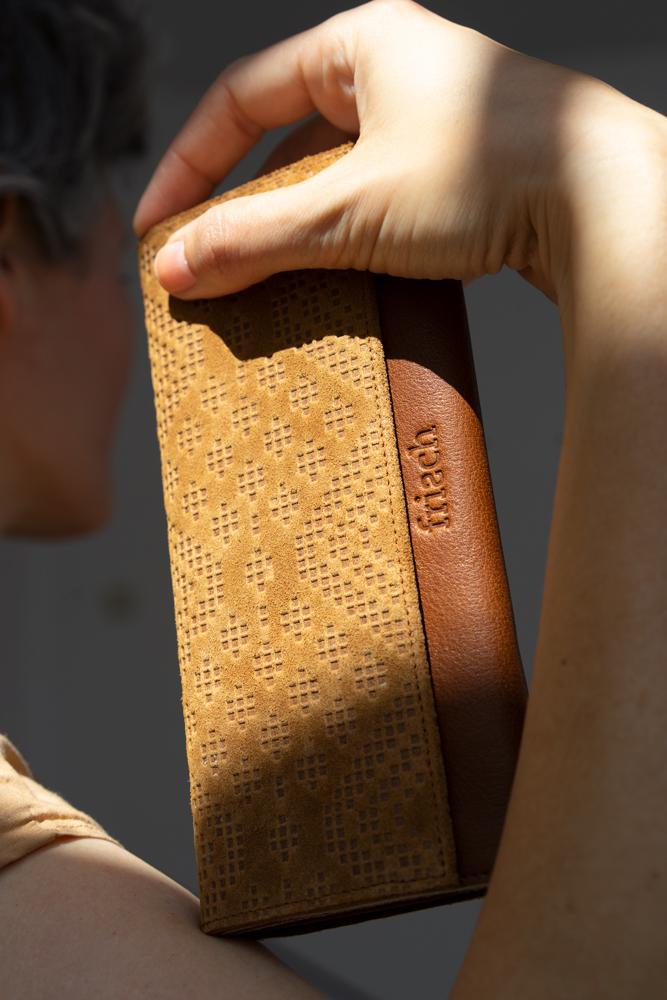 Geldbeutel Boho für Damen von frisch aus Leder in braun