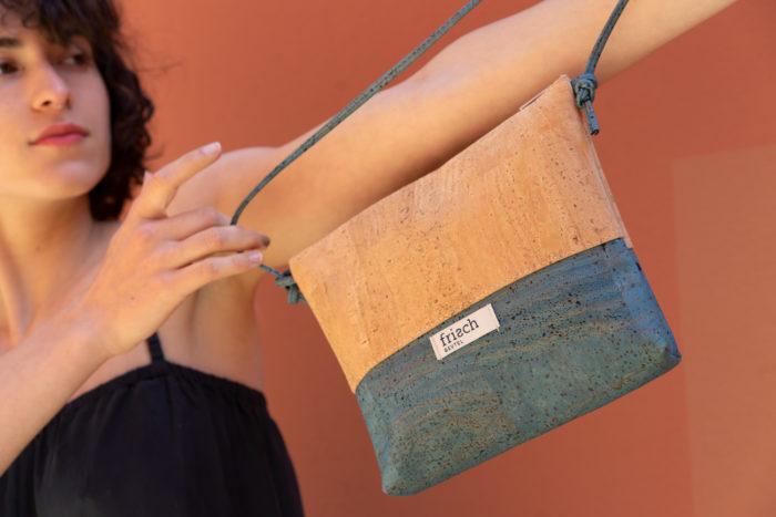 Vegane Handtasche von frisch Beutel aus Kork