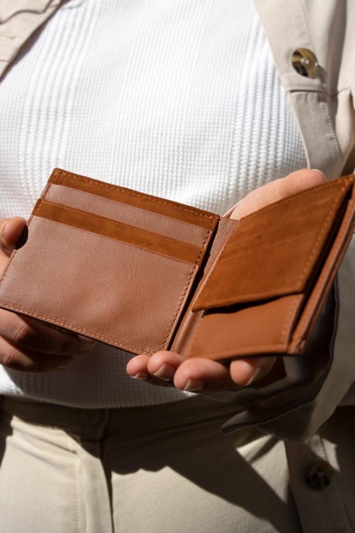 Produktbild Brieftasche ERDE Glattleder in Kombination mit Veloursleder